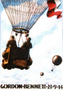 Okolicznościowy plakat Aeroklubu RP