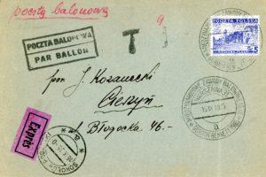 Poczta balonowa 1935 rok